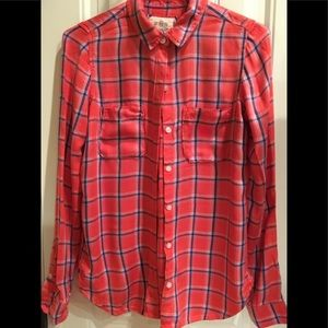 Flannel Look Shirt 👚 size XS Pretty Colors by So